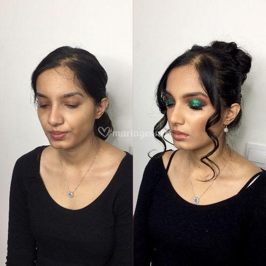 Maquillage /coiffure soirée