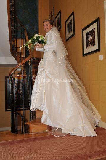 Mariée dans le chateau