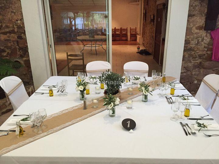 Thème provence table d'honneur