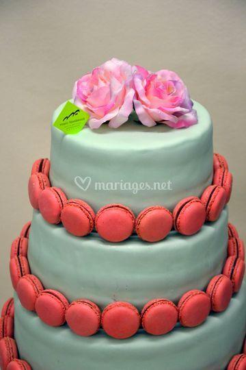 Wedding cake avec macarons