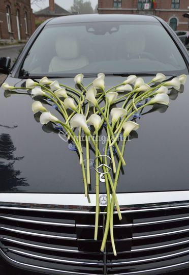 Capot voiture des mariés