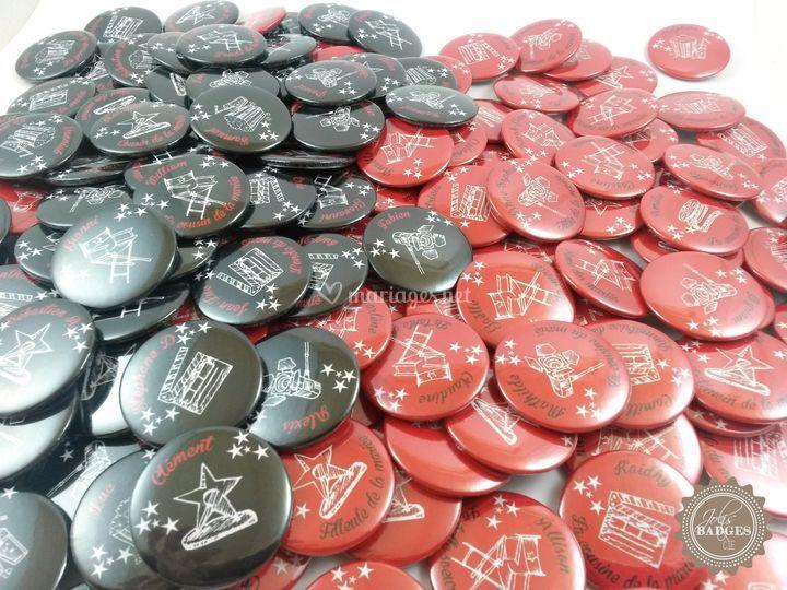 Badges marque place cinéma