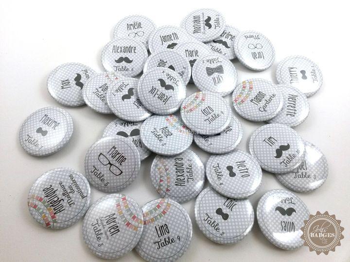 Badges marque place vintage