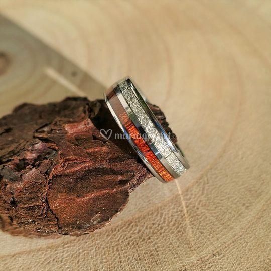 Alliance bois et météorite