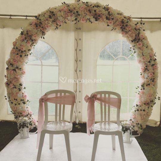 Arche ronde florale