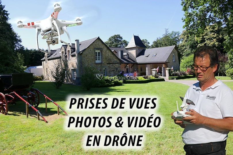 By drone