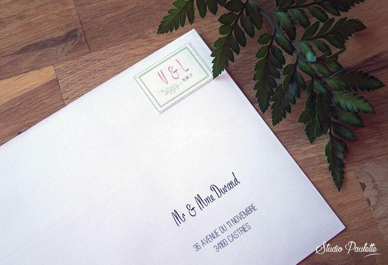 Enveloppe personnalisée