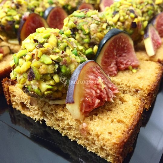 Toast de foie gras, pistache