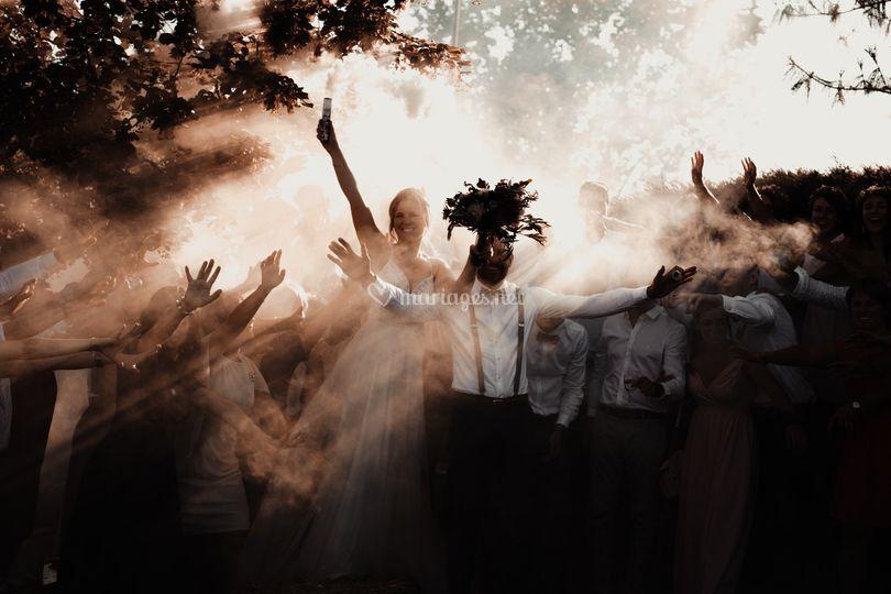 Fumigènes photos de groupe