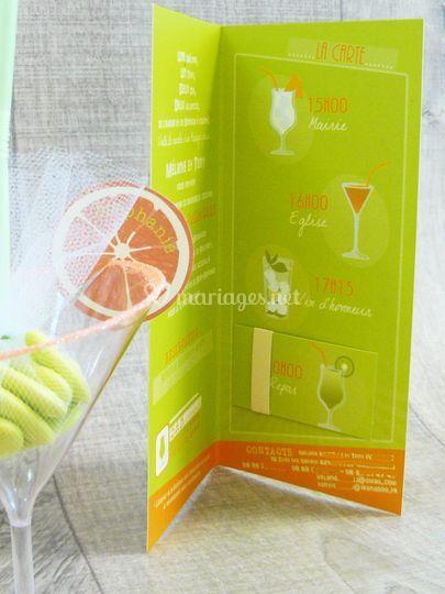 Faire-part cocktail intérieur