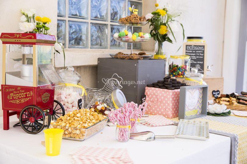 Sweet table mariage champêtre