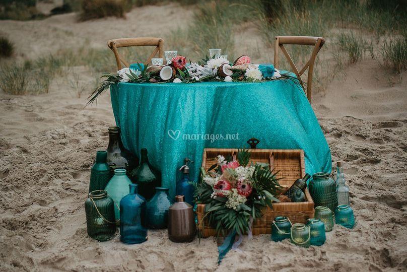 Décoration mariage tropical