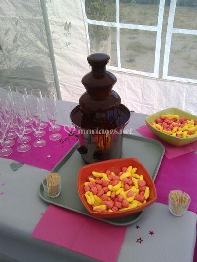 Fontaine choco vin d'honneur