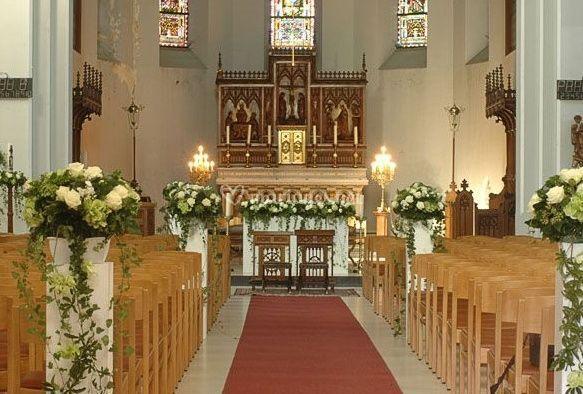 Décoration florale de l'église