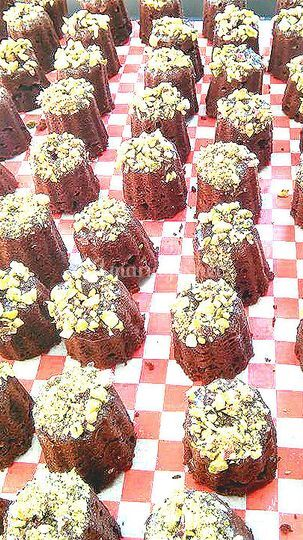 Gâteaux chocolat pistaches