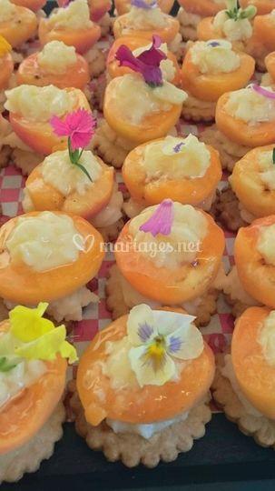 Tartelettes aux abricots.
