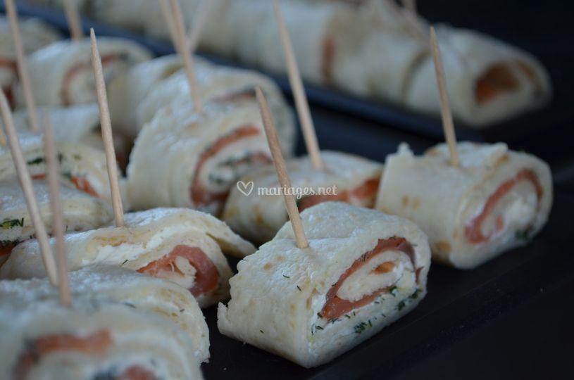Wraps saumon fromage frais et