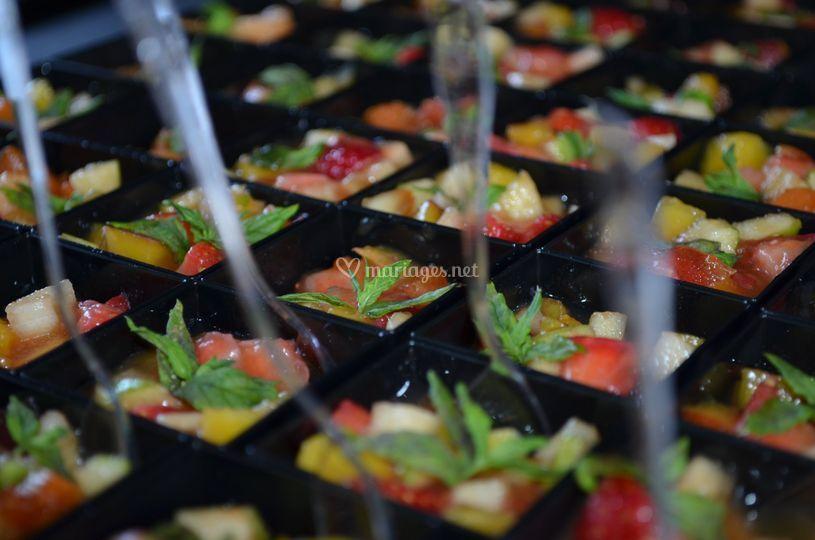 Verrines colorées