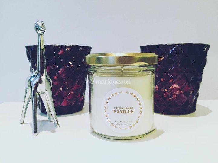 Bougie naturelle - Vanille