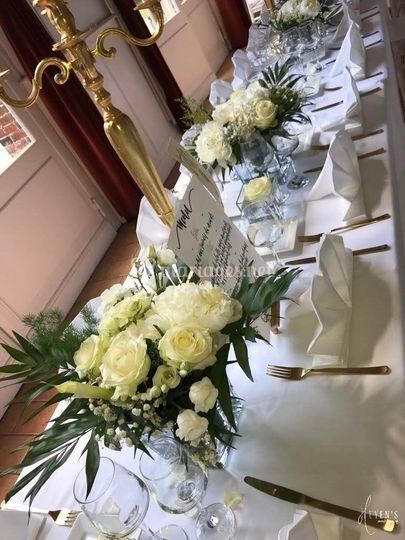 Bouquets floraux blanc