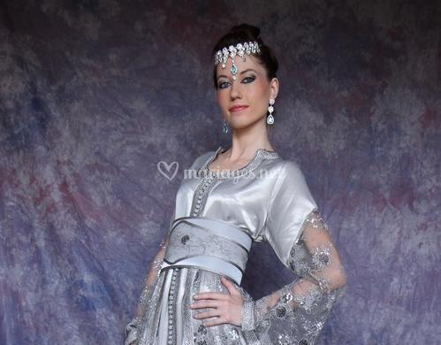 Robe gris perle