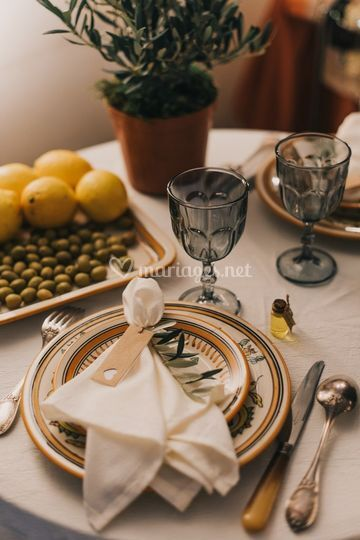 Mariage toscane table