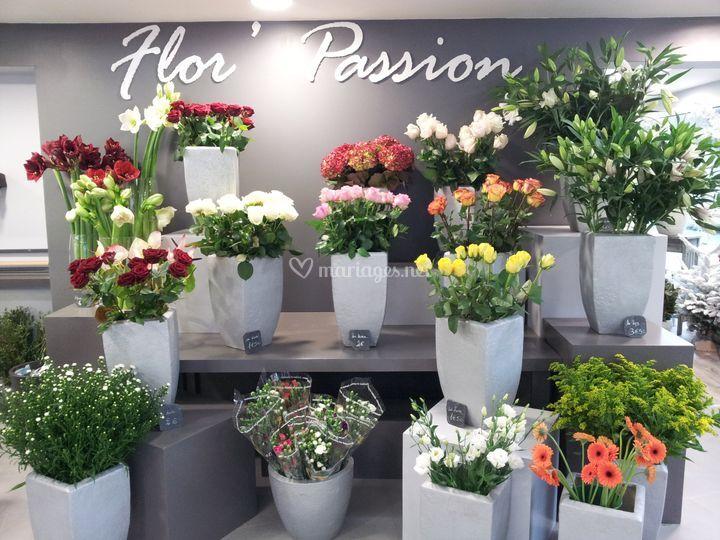 Grand choix de fleurs