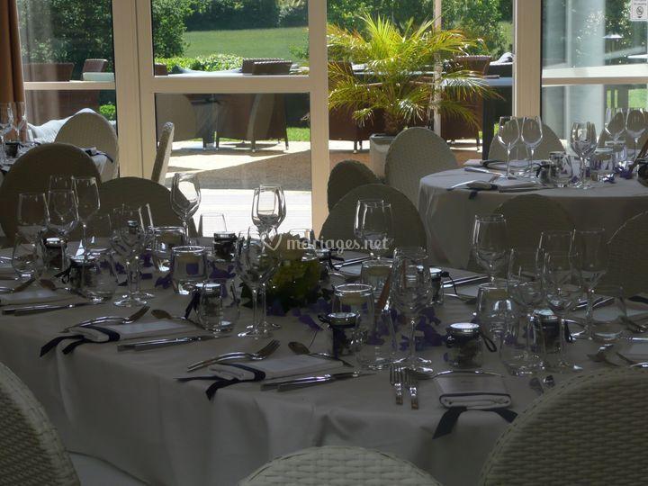 Tables pour la réception