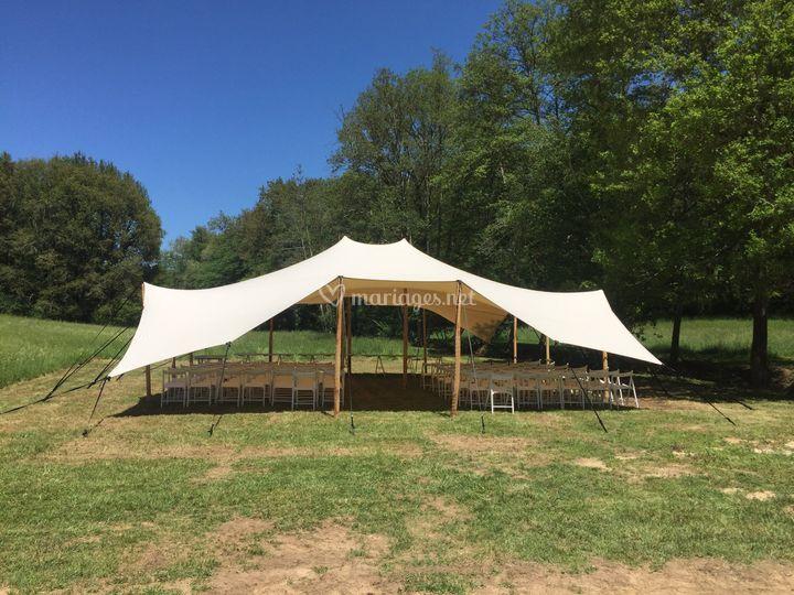 Tente pour cérémonie laïque