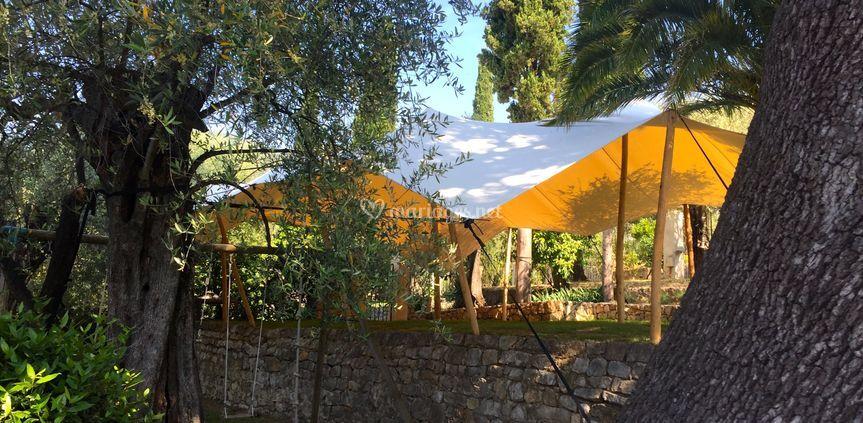 Tente 120m2 blanche