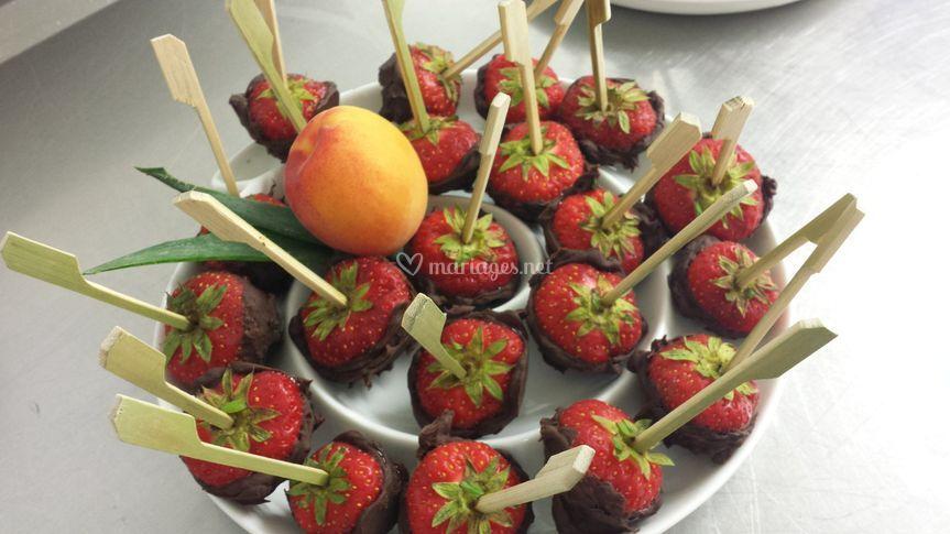 Sucettes de fraises