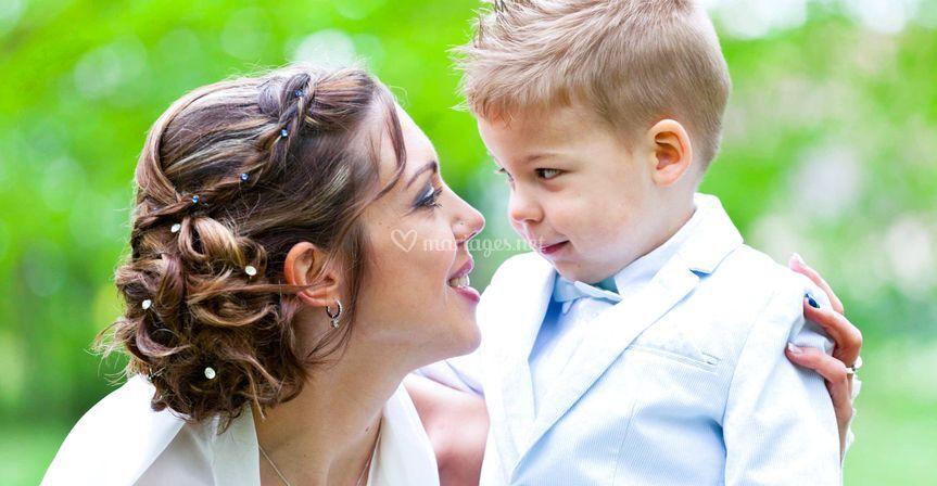 Mariée et fils
