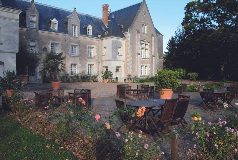 Le chateau , la terrasse