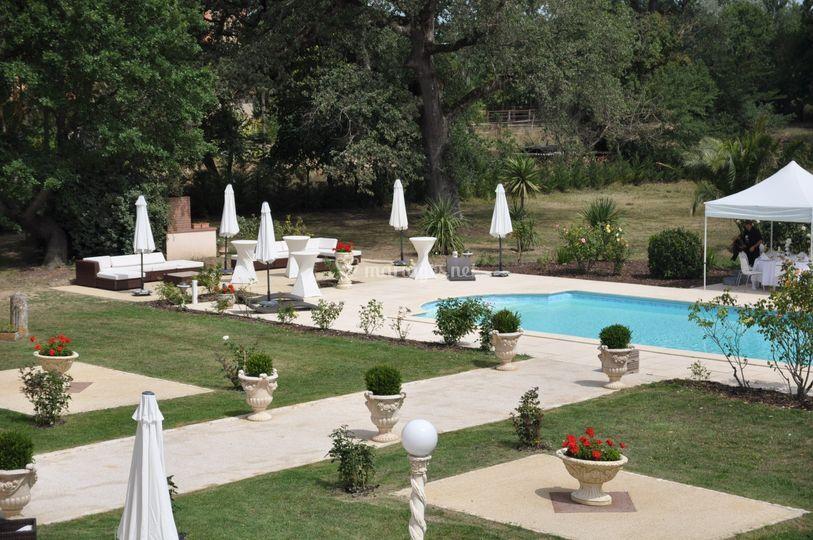 Salons terrasse piscine
