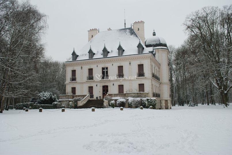 Le château sous la neige