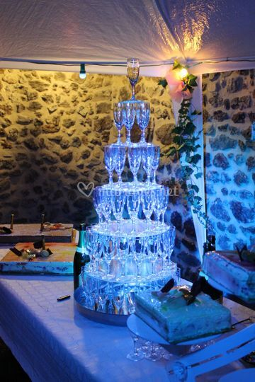 Eclairage fontaine