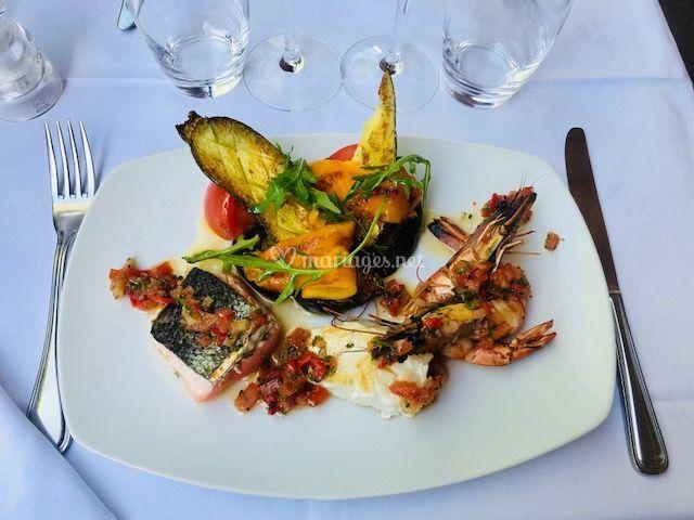 Plancha de poissons