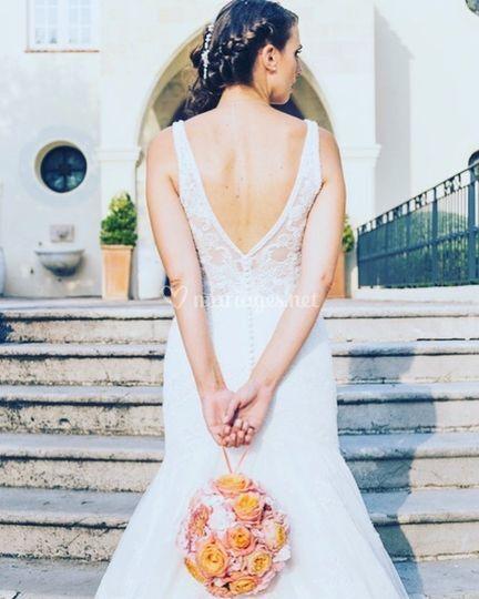 Bouquet de mariée aumônière