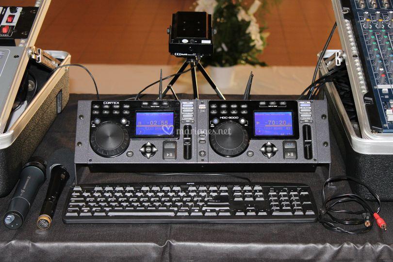 La platine DJ en WAV et MP3
