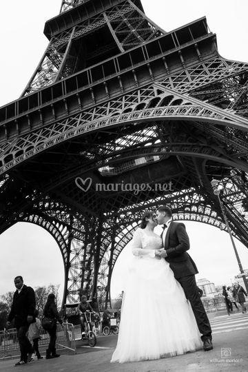 Mariage paris tour eiffel