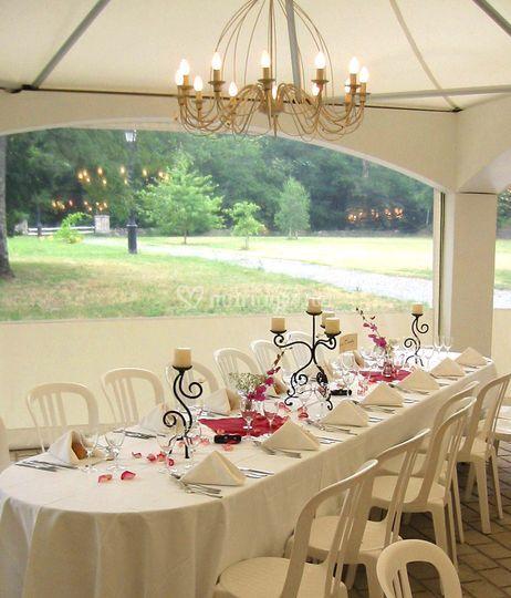 Dressage salle mariage