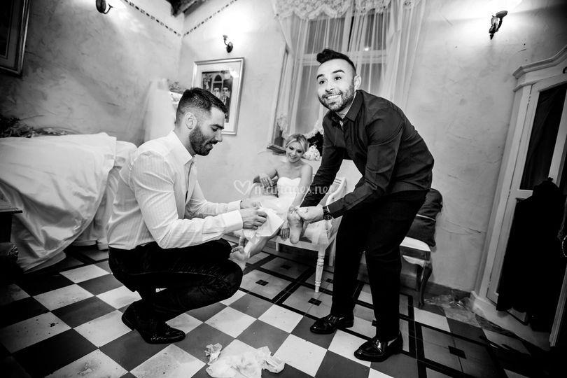 Nettoyage de la mariée