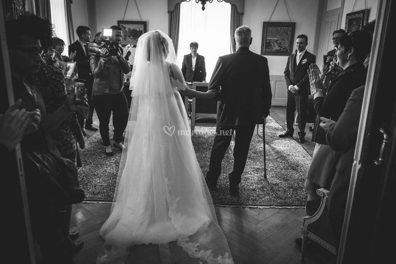 Quand la mariée arrive...