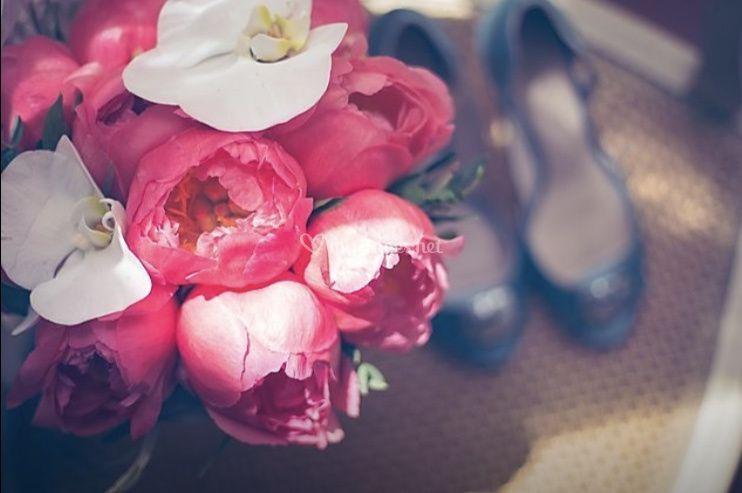 Bouquet de mariée pivoine