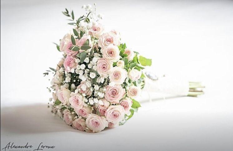 Bouquet mariée rose branchue