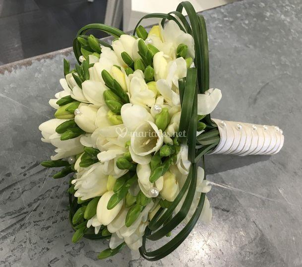 Bouquet de mariée freesia