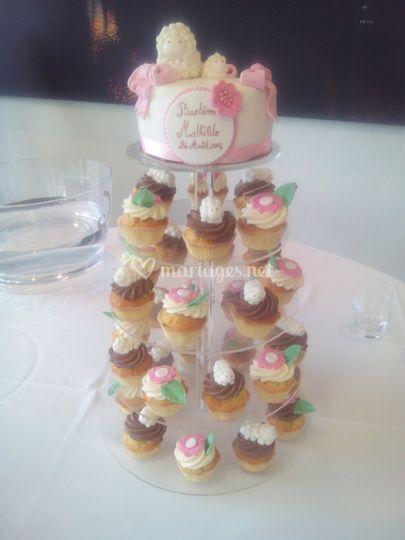 Cupcake sans crème au beurre