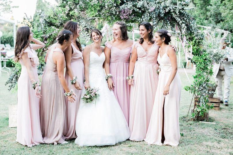 La mariée & ses demoiselles