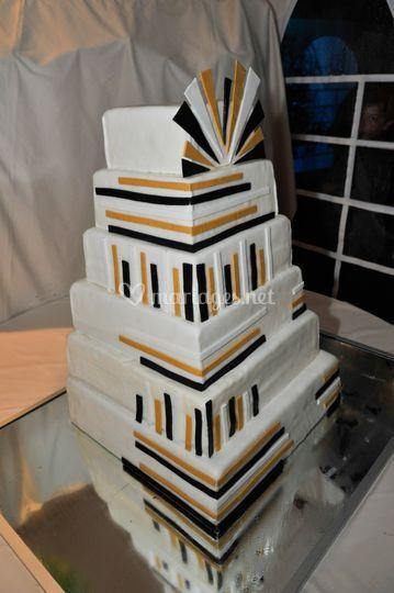 Wedding cake thème art déco