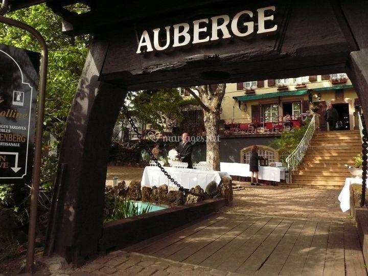 lentre du restaurant sur domaine du bollenberg - Domaine Viticole Mariage Alsace